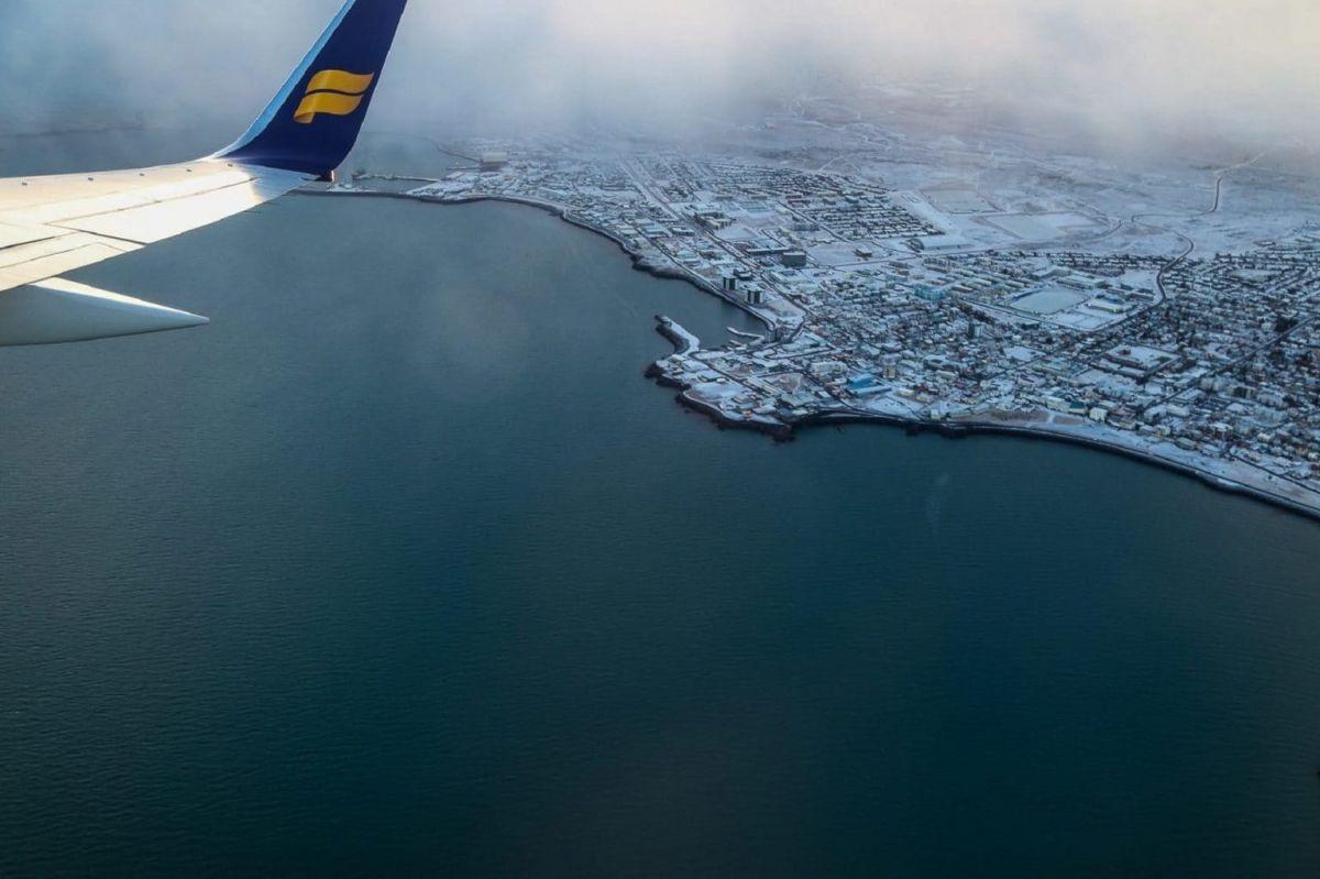Исландия из самолёта