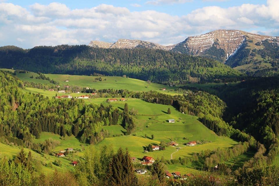 Альпийская деревня в Германии