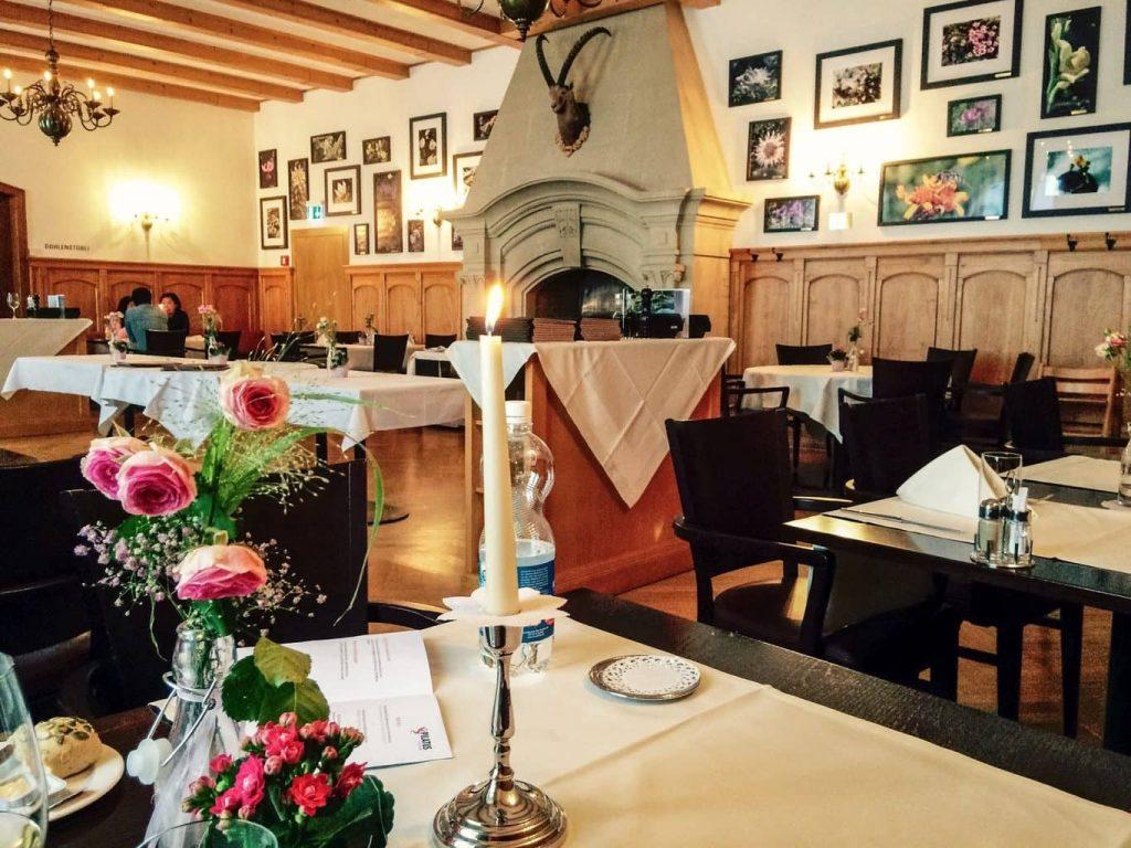 Ресторан в Альпийских горах