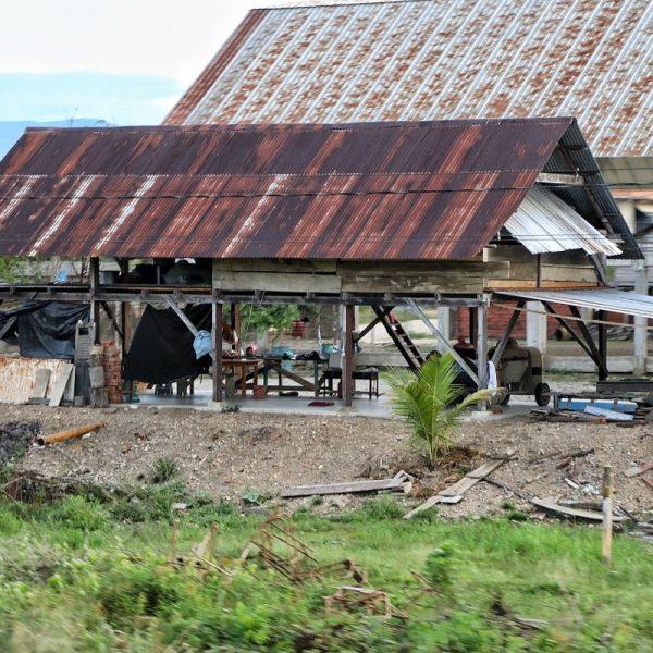 разрушенный дом боливийцев
