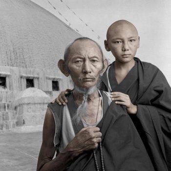 Старик и ребёнок, Тибет