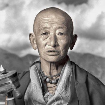 Старый мужчина, Тибет