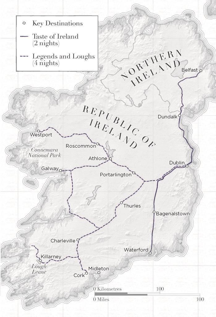 Маршрут поезда Ирландия