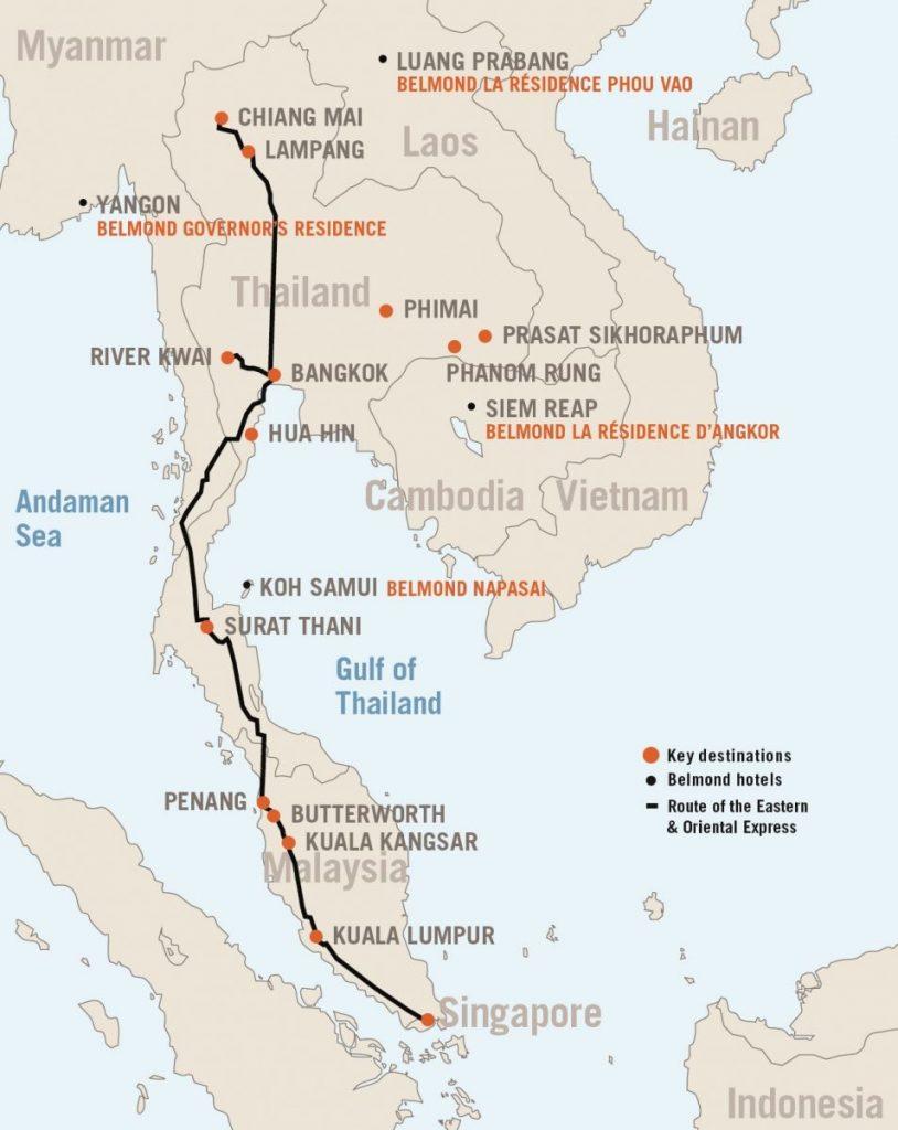 Маршрут Eastern-Oriental-Express