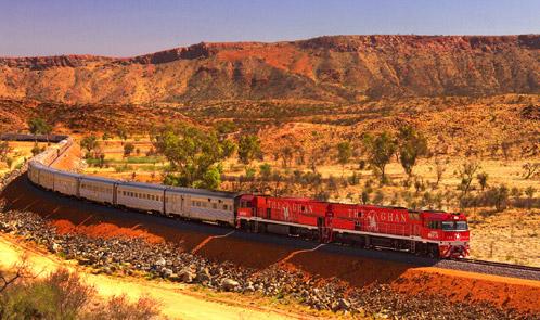 Австралия, поезд ghan