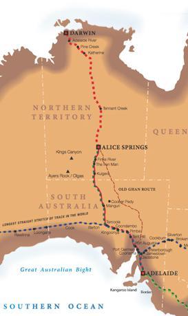 маршрут поезда Австралия