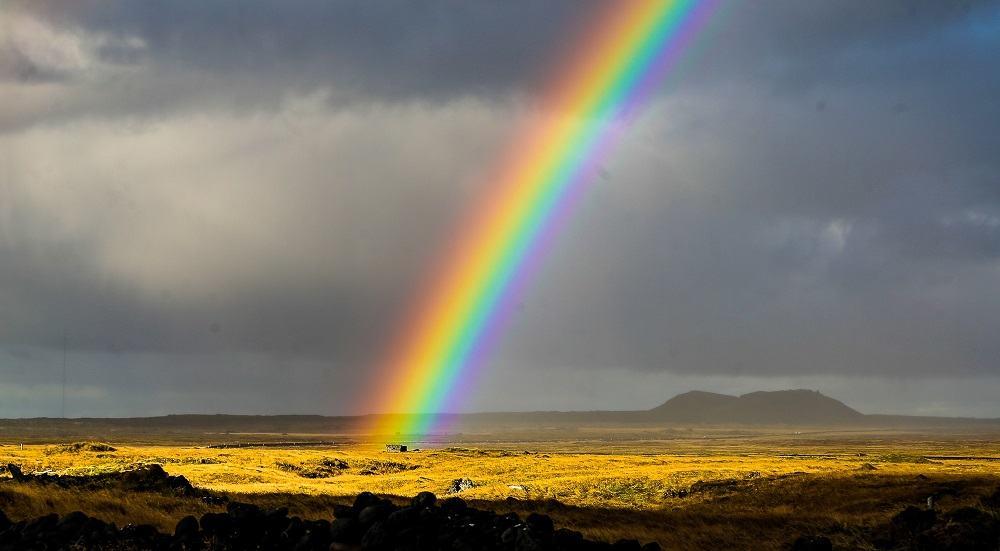 Радуга в Исландии