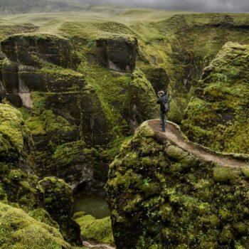 Каньон-Fjaðrárgljúfur-Исландия
