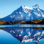 Патагония, озеро на фоне гор