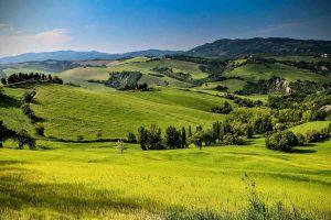 Тоскана поля, холмы