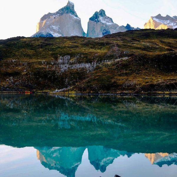 Чили, озеро в горах