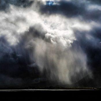 Исландия, закат, небо