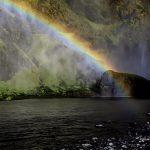ребёнок и радуга в исландии