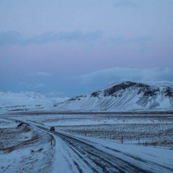 Исландия, север, дорога