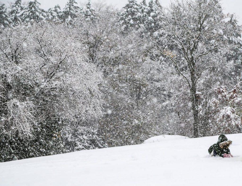 Снег и Утро-в-Хаконе, Япония