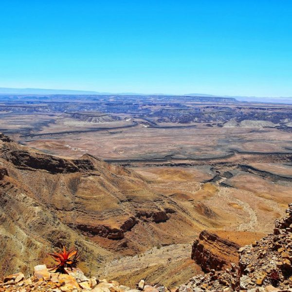 Вид на Фиш Ривер каньон в Намибии