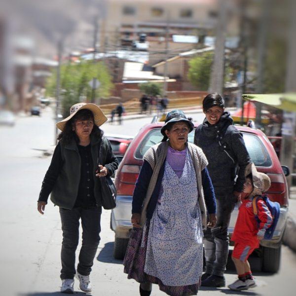 На улицах Потоси, Боливия