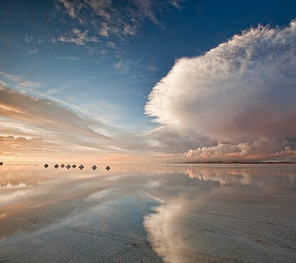 Солончак и красивое небо, Боливия