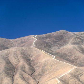 Дорога через перевал в Чили
