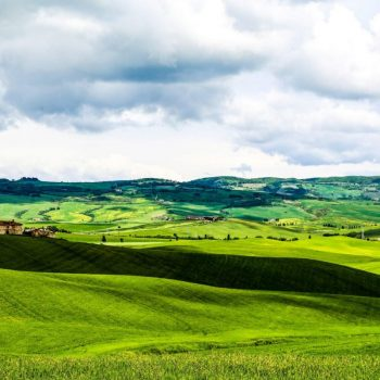 Зелёные поля Тосканы, Италия