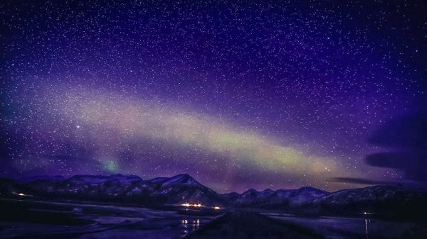 Исландия, звёздное небо