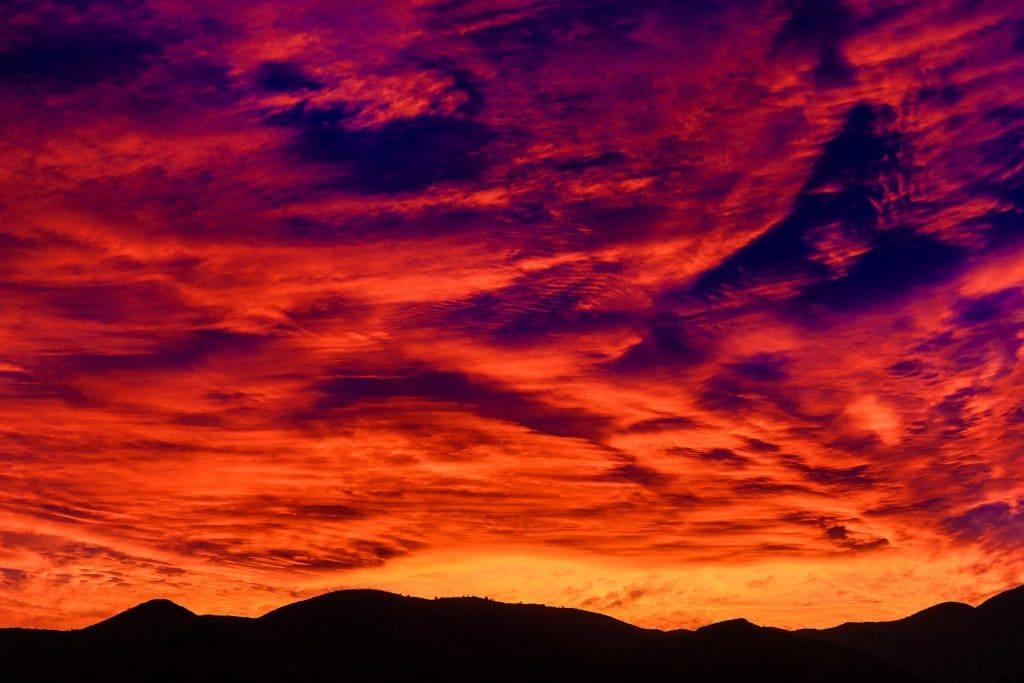 Красивый Чилийский закат