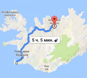 маршрут по исландиии