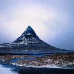 вид на гору в исландии