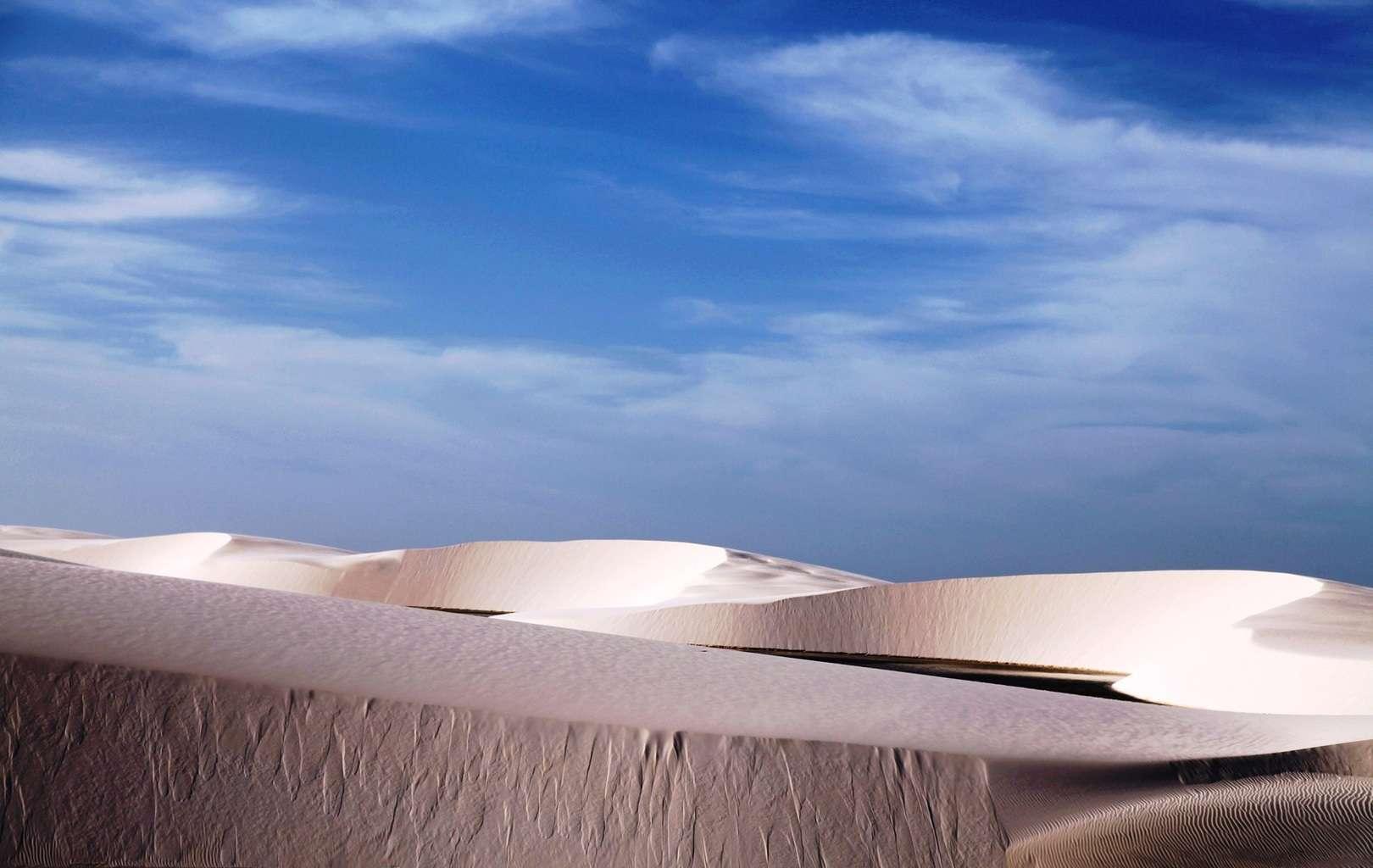 Бразилия, пустыня с белыми песками