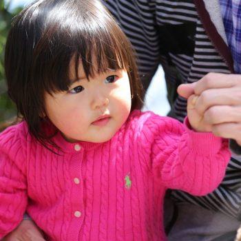 Маленькая девочка в Японии
