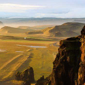 Виды со скалы, Исландия