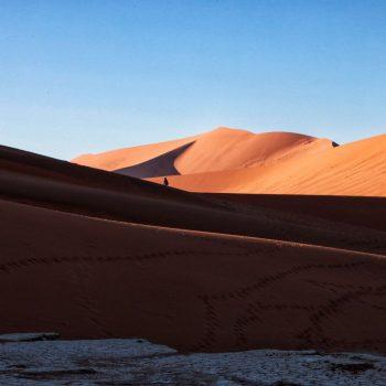 Оранжевая пустыня в Намибии