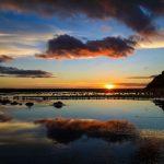Солнце заходит в Исландии