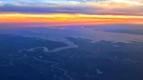 Вид с самолёта, Мьянма