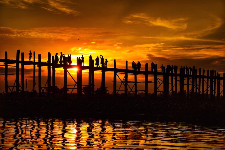 закат, мандалай, мьянма