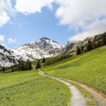 Мюррен, Альпы, горная тропа
