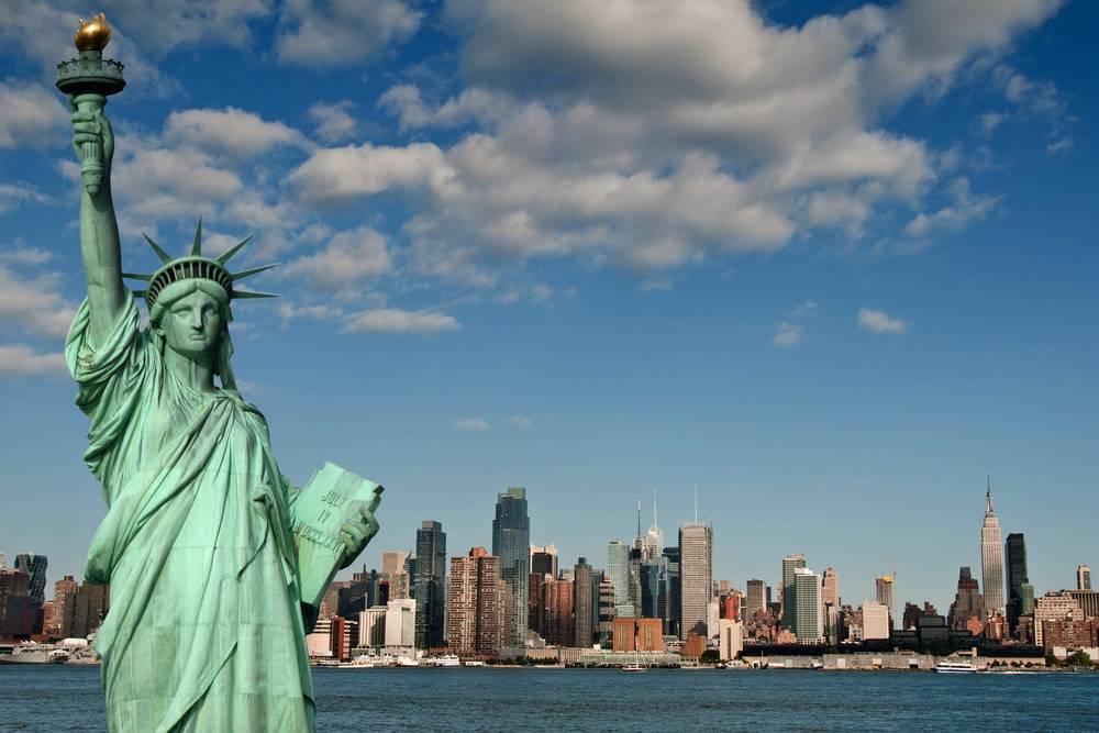 США, Нью_Йорк, статуя Свободы