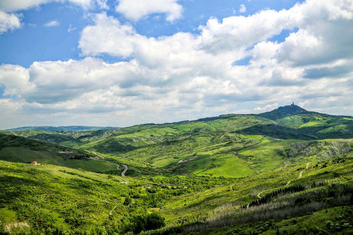 Тоскана поля, вид с высоты