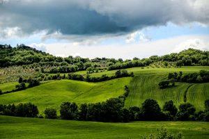 Тоскана поля, просторы Италии