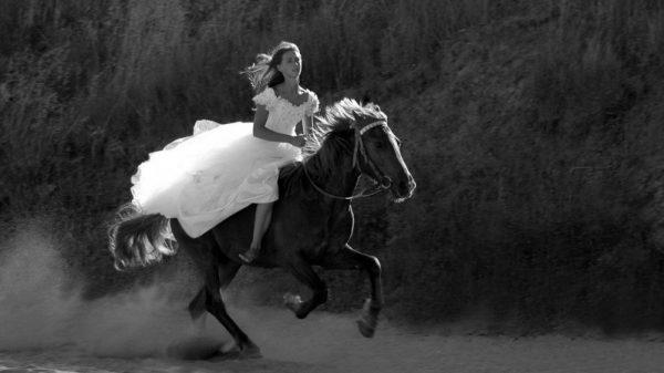 Девушка и лошадь, Елена Павличенко