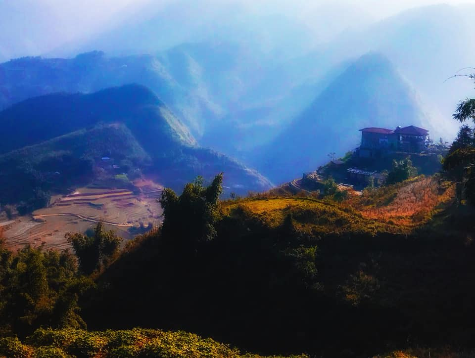 вид на горы вьетнама